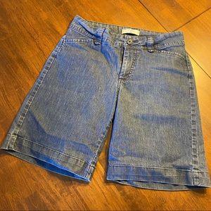 Lee stretch denim Bermuda shorts